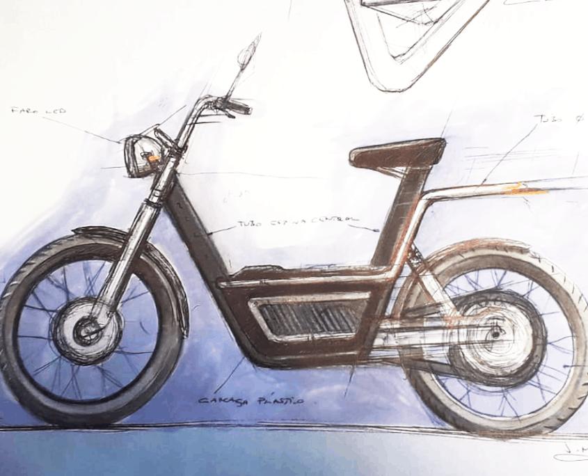 Nuuk boceto Zyclik moto eléctrica