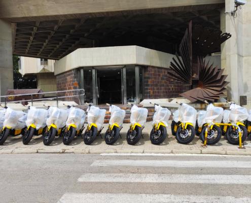 flota eléctrica NUUK motos